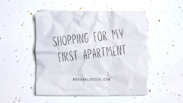 Shopping for My FirstApartment